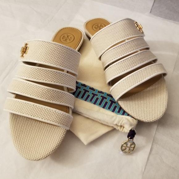 f077af4f9a0f Tory Burch Kira Multi-Band Slide Sandals - NWOB. M 5c77d041534ef944a6ef1619